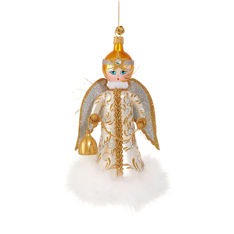 Jingle Nog Lucie Angel Christmas Ornament