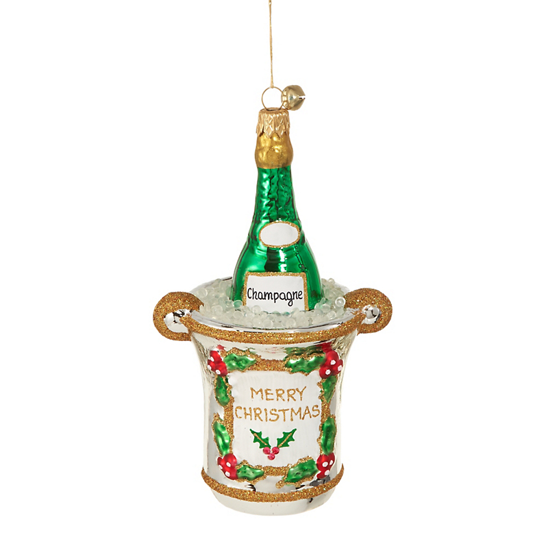 Jingle Nog Merry Christmas 2016 Bottle Christmas Ornament