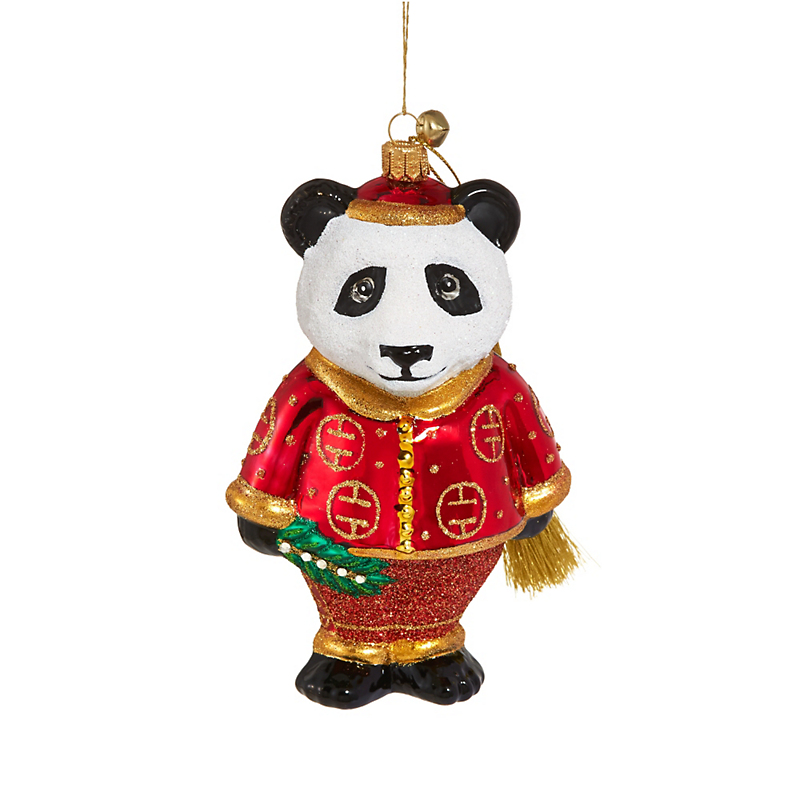 Jingle Nog Qinling Panda Christmas Ornament