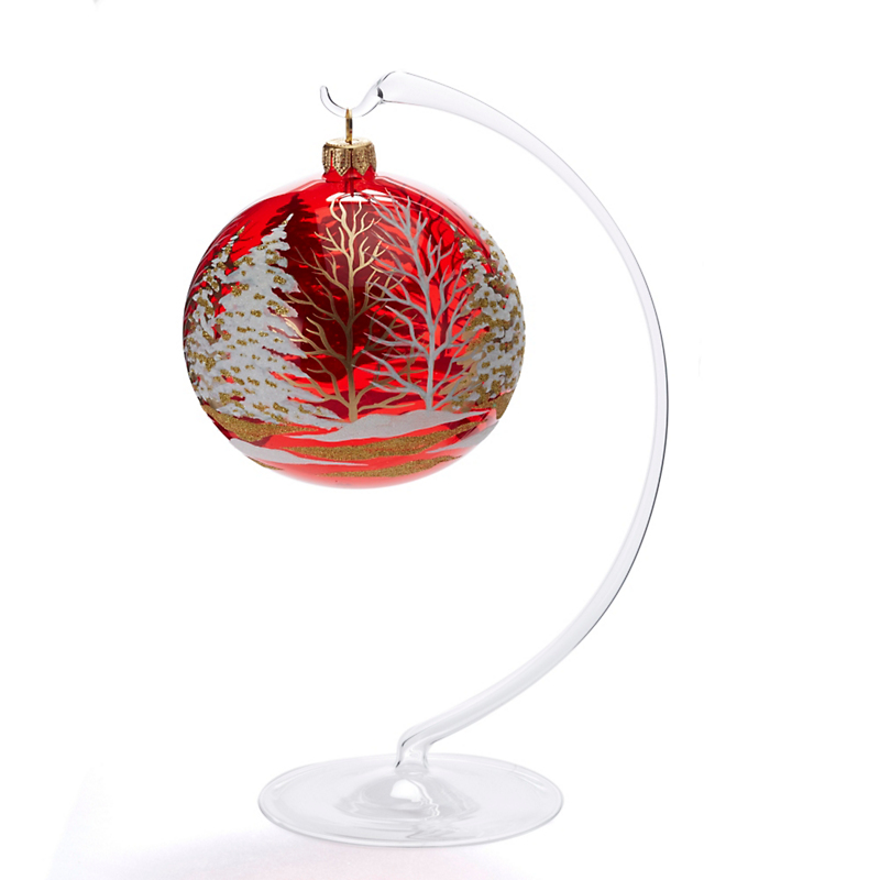 Jingle Nog Glass Ornament Stand
