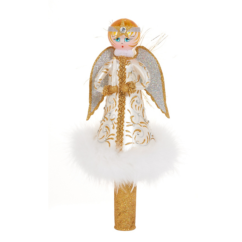 Jingle Nog Lucie Angel Tree Topper