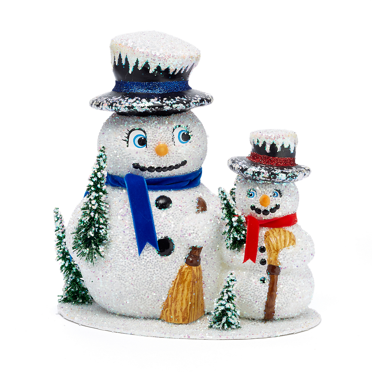 Ino Schaller Two Snowmen on Stand