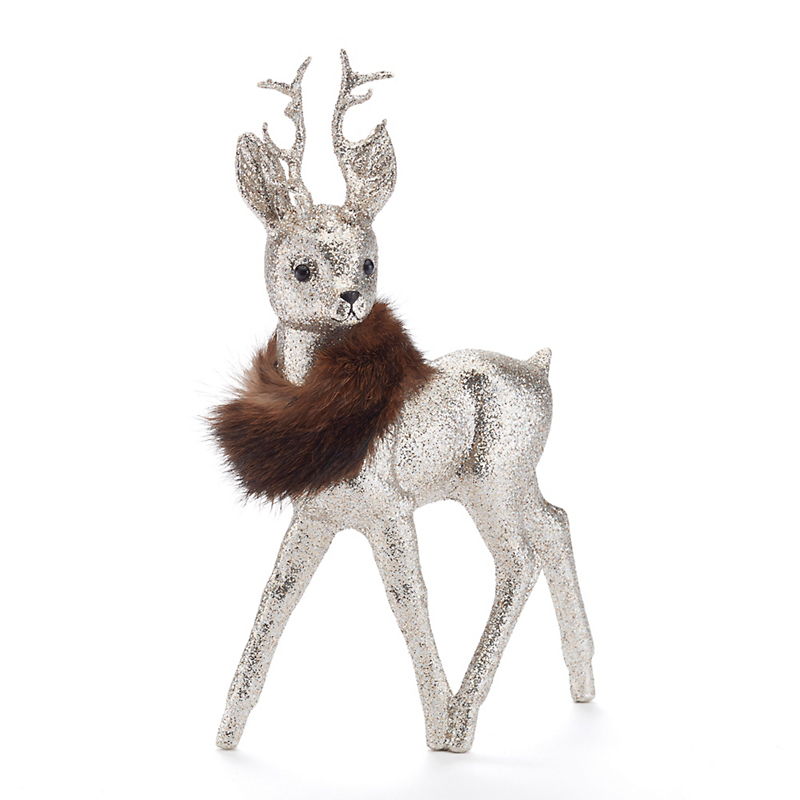 Ino Schaller  Deer With Antlers & Fur Collar