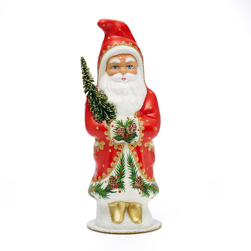 Ino Schaller Santa with Pinecone Border Coat