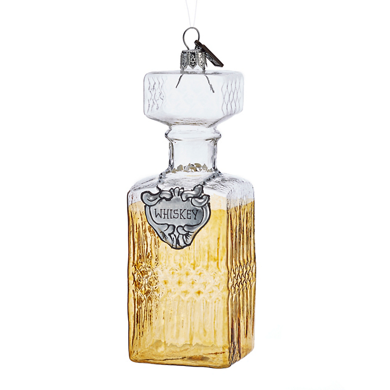 Eric Cortina Whiskey Decanter Christmas Ornament