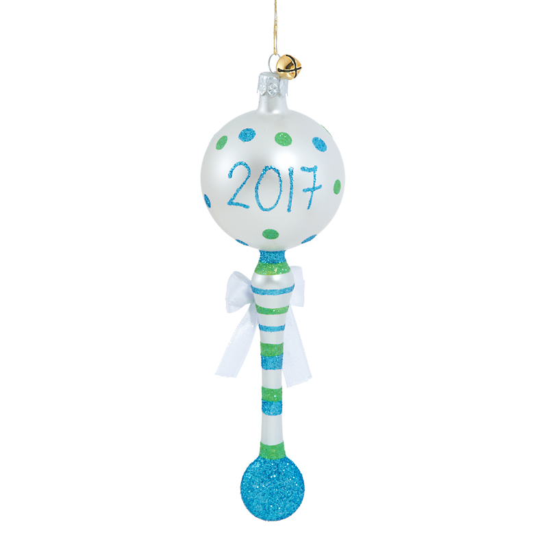 Jinglenog His 1st Shake 2017 Christmas Ornament