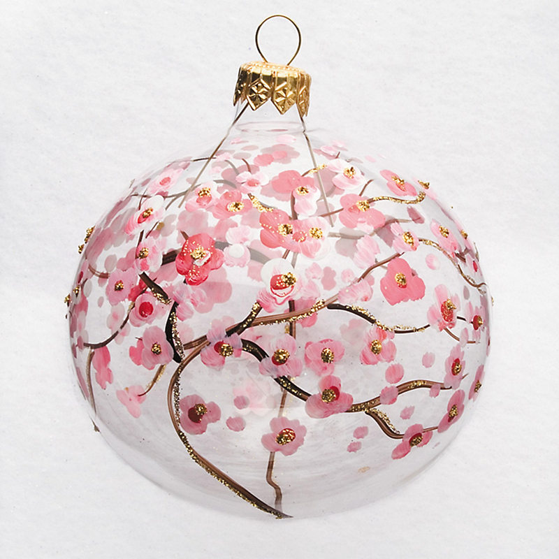Cherry Blossom Ball Christmas Ornament