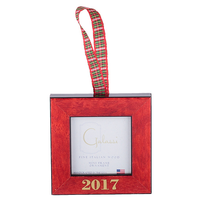Red Frame 2017 Christmas Ornament