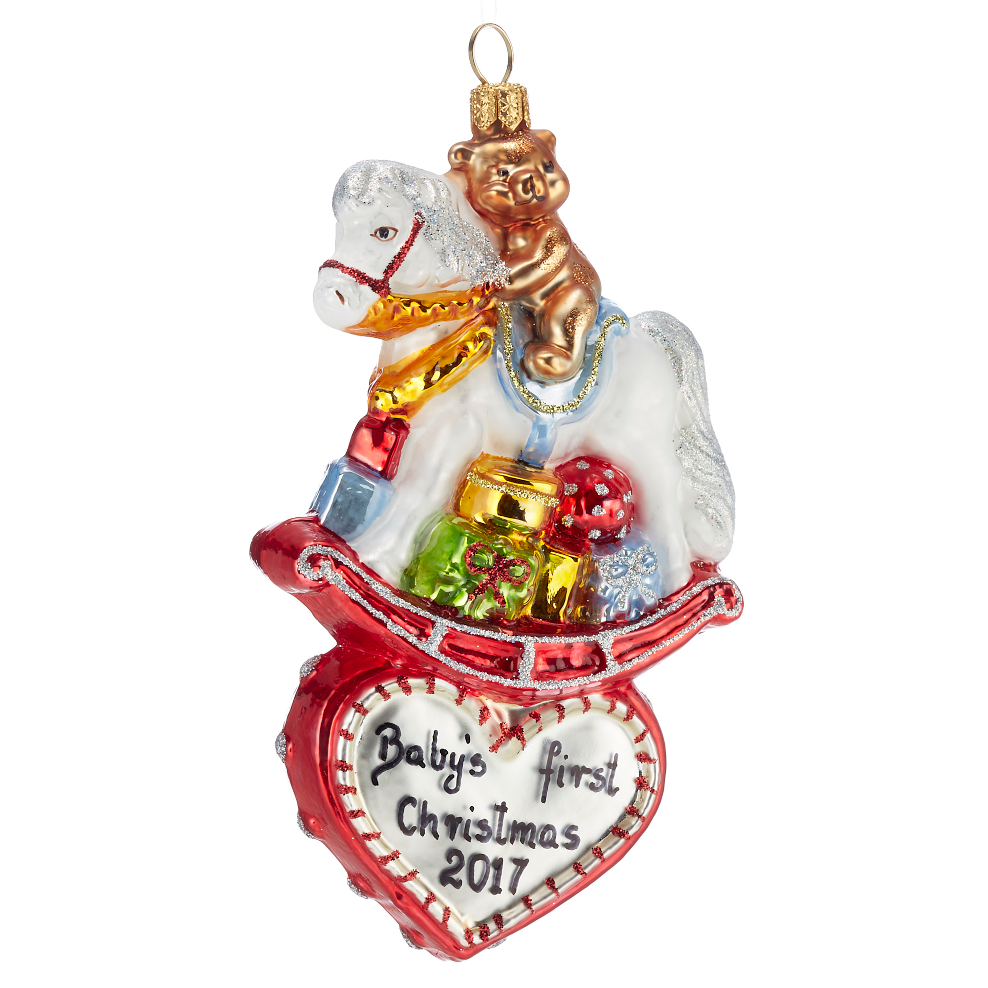 2017 Rocking Horse Christmas Ornament | Gump\'s