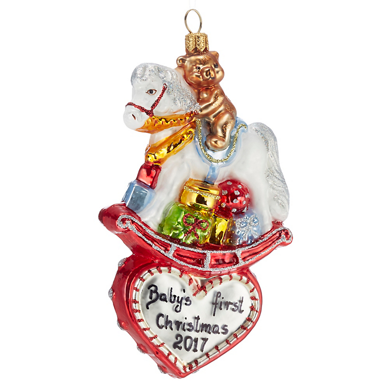 2017 Rocking Horse Christmas Ornament