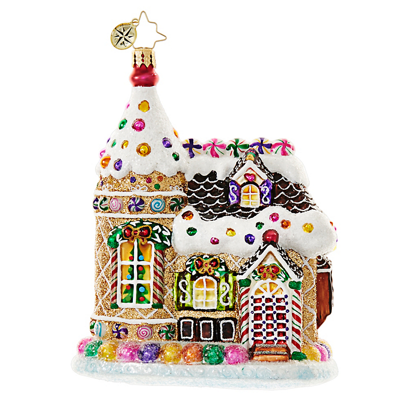 Christopher Radko Home Sweets Home Gingerbread House Christmas Ornament