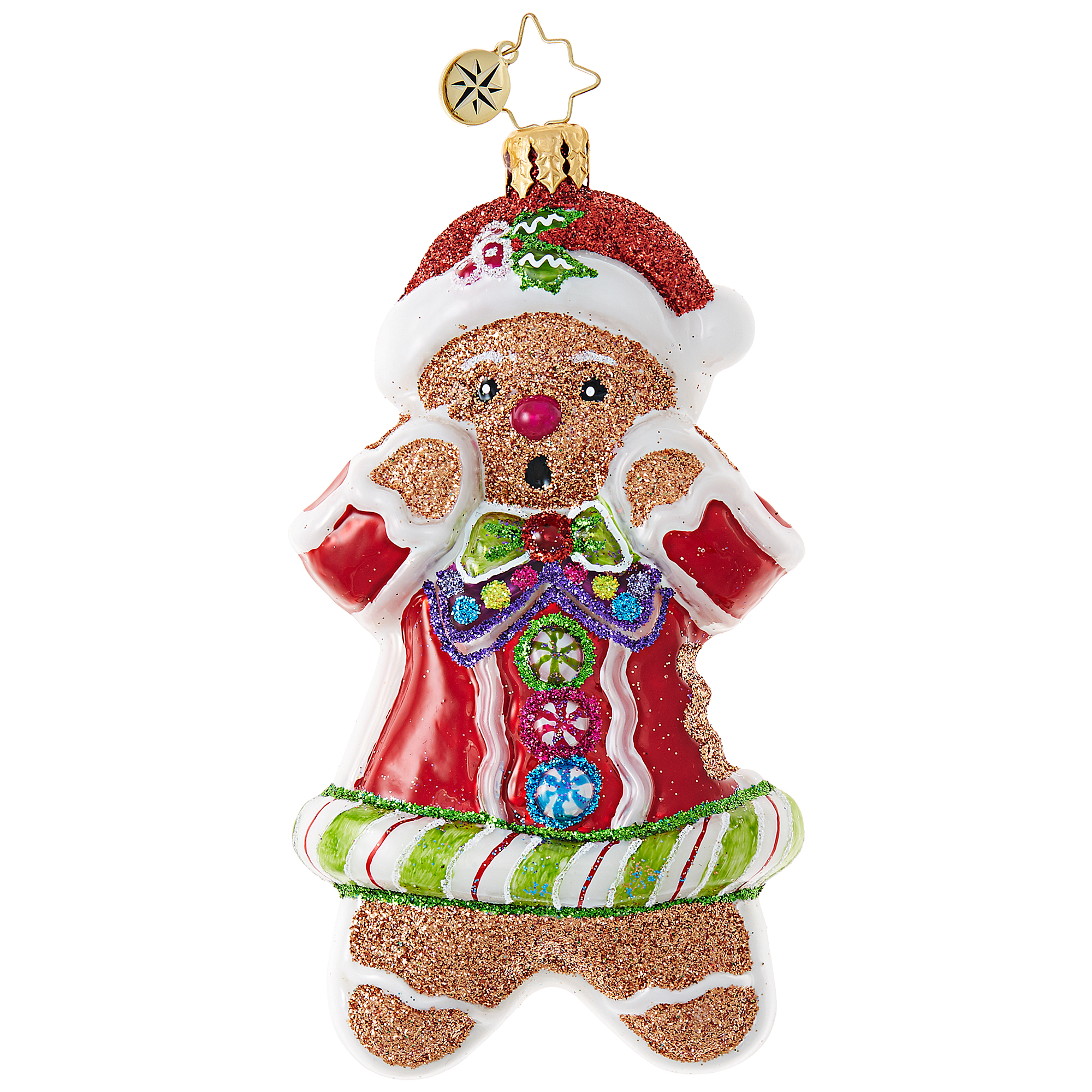 Christopher Radko Tasty Bite Gingerbread Man Christmas Ornament