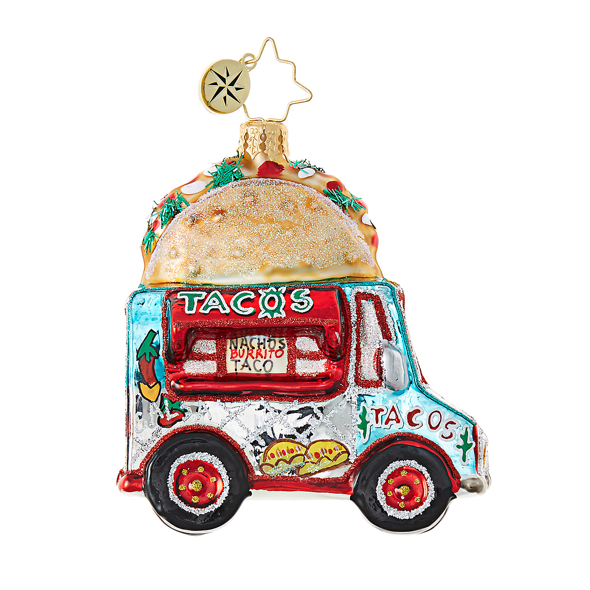 Christopher Radko Taco Truck Christmas Ornament