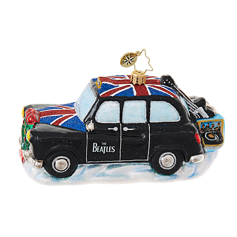 Christopher Radko Beatles London Cab Christmas Ornament