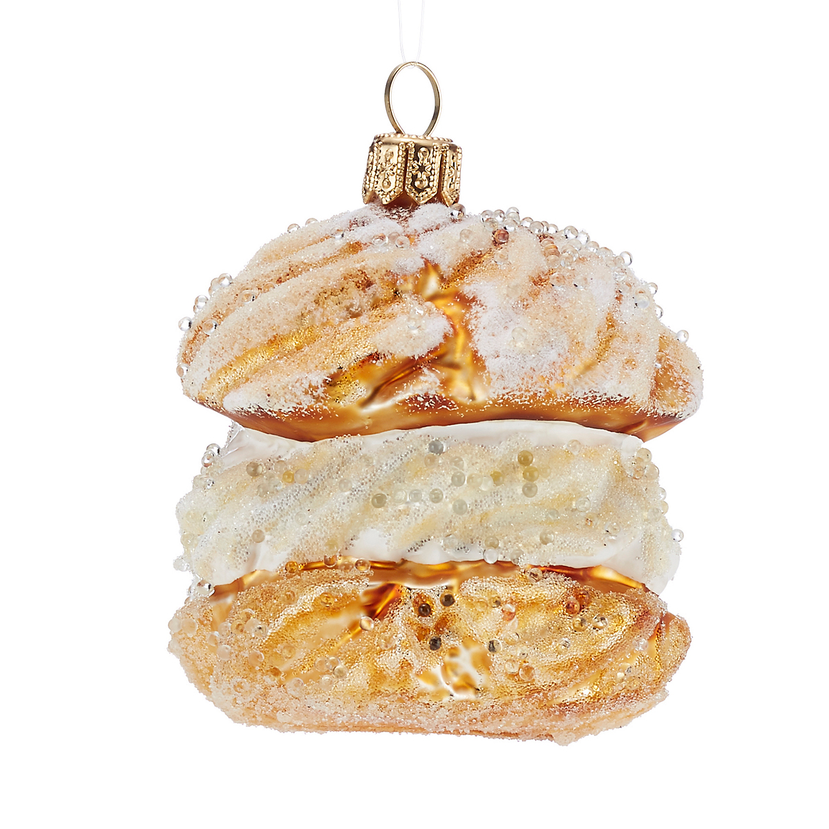 Cream Puff Christmas Ornament