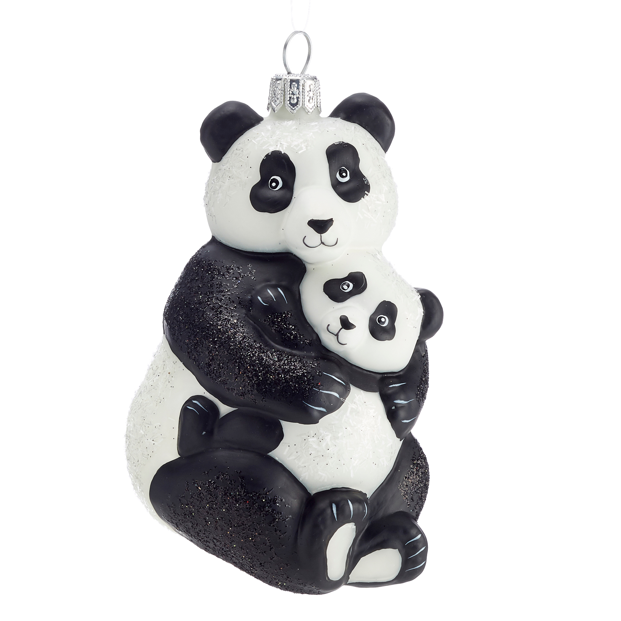 Panda with Baby Christmas Ornament