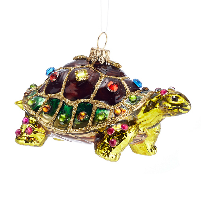 Jeweled Tortoise Christmas Ornament
