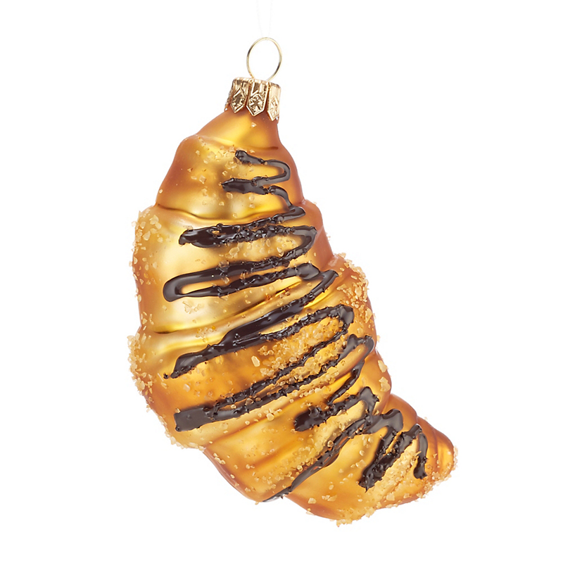 Chocolate Croissant Christmas Ornament