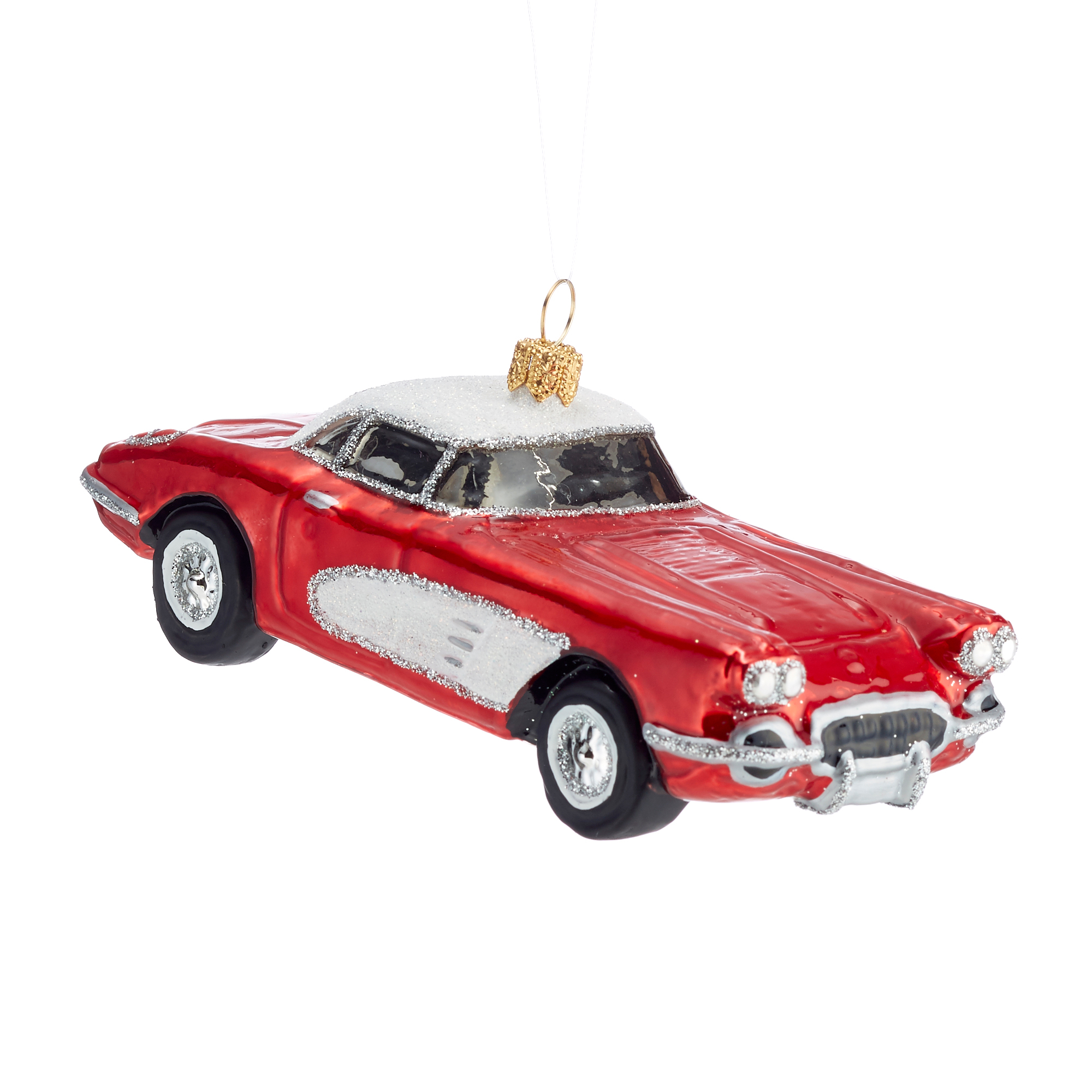 Red & White Sportster Christmas Ornament