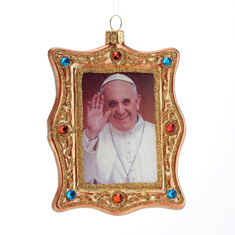 Pope Francis Christmas Ornament