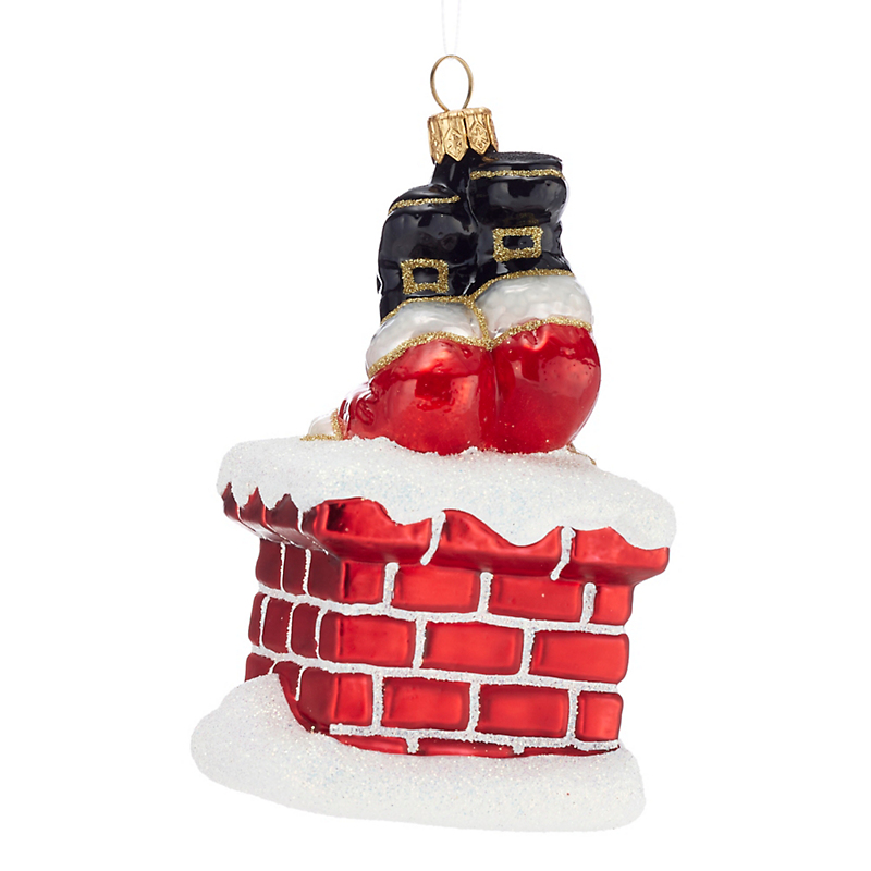 Down the Chimney Christmas Ornament