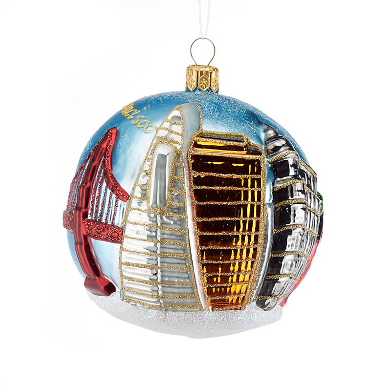 San Francisco City Ball Ornament