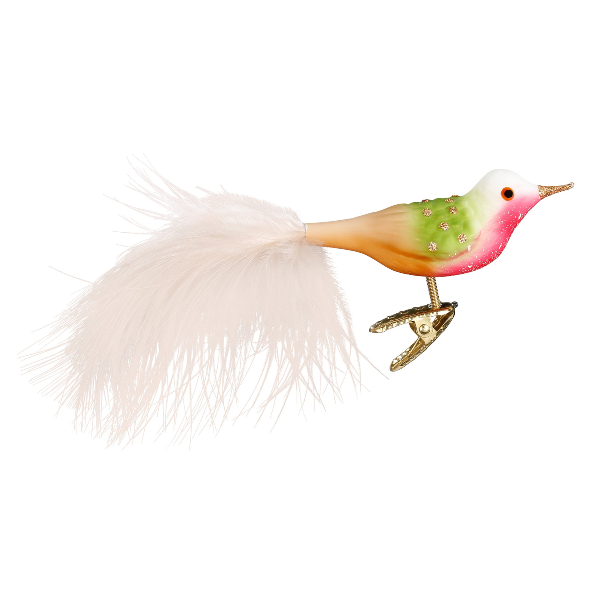 Tropical Sherbet Bird Christmas Ornament
