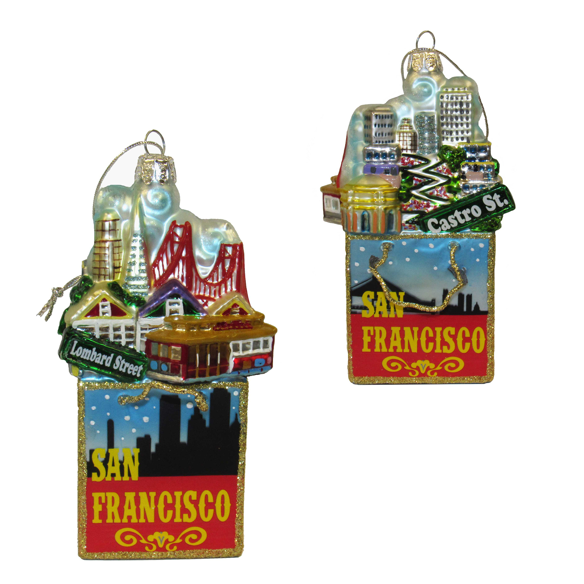 San Francisco Gift Bag Ornament