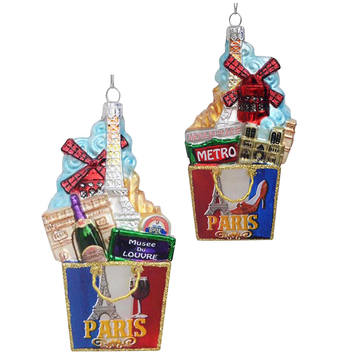 Paris Shopping Bag Christmas Ornament
