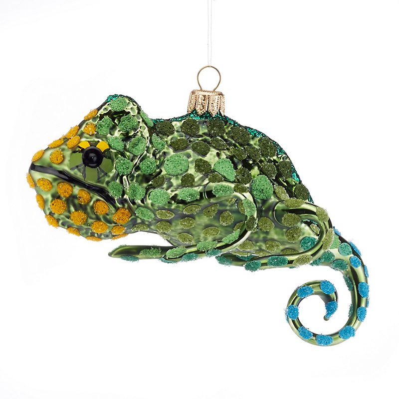 Spotted Chameleon Ornament