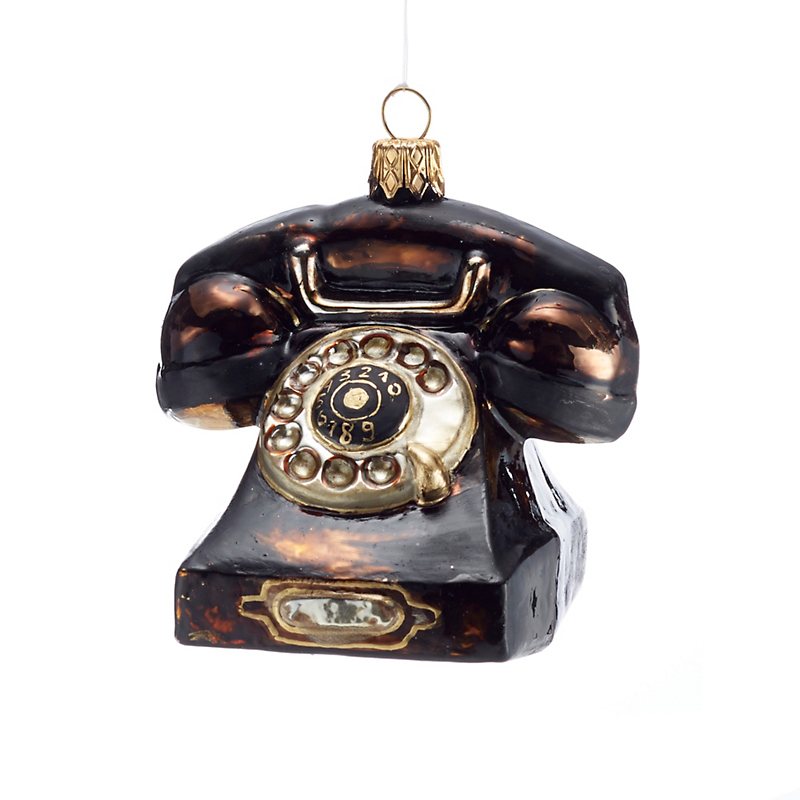 Rotary Phone Christmas Ornament