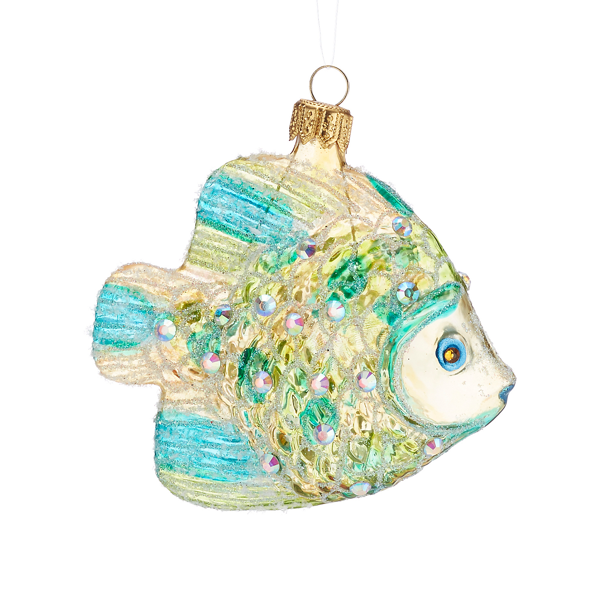 Iridescent Fish Christmas Ornament