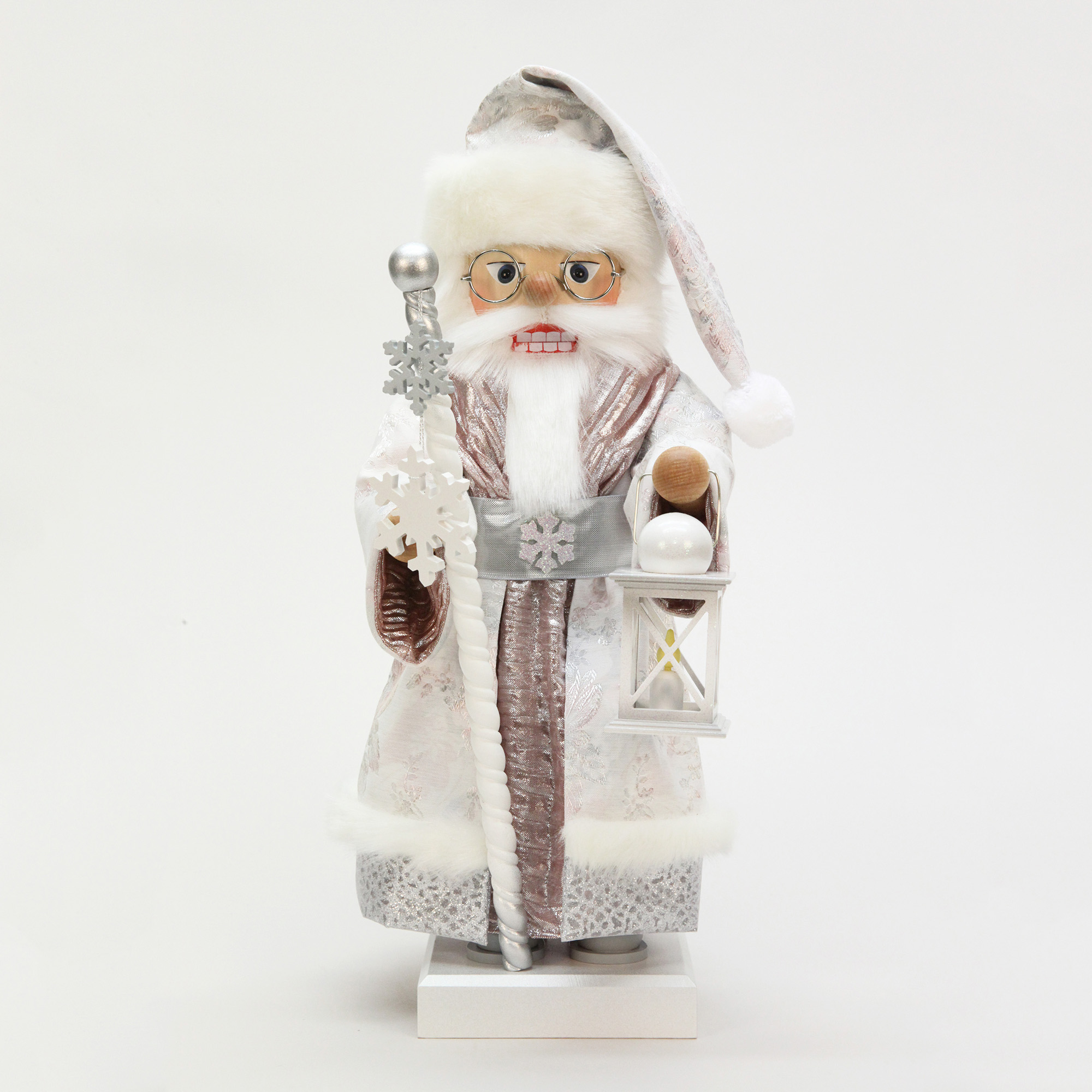 Christian Ulbricht St. Nick in White & Silver Nutcracker
