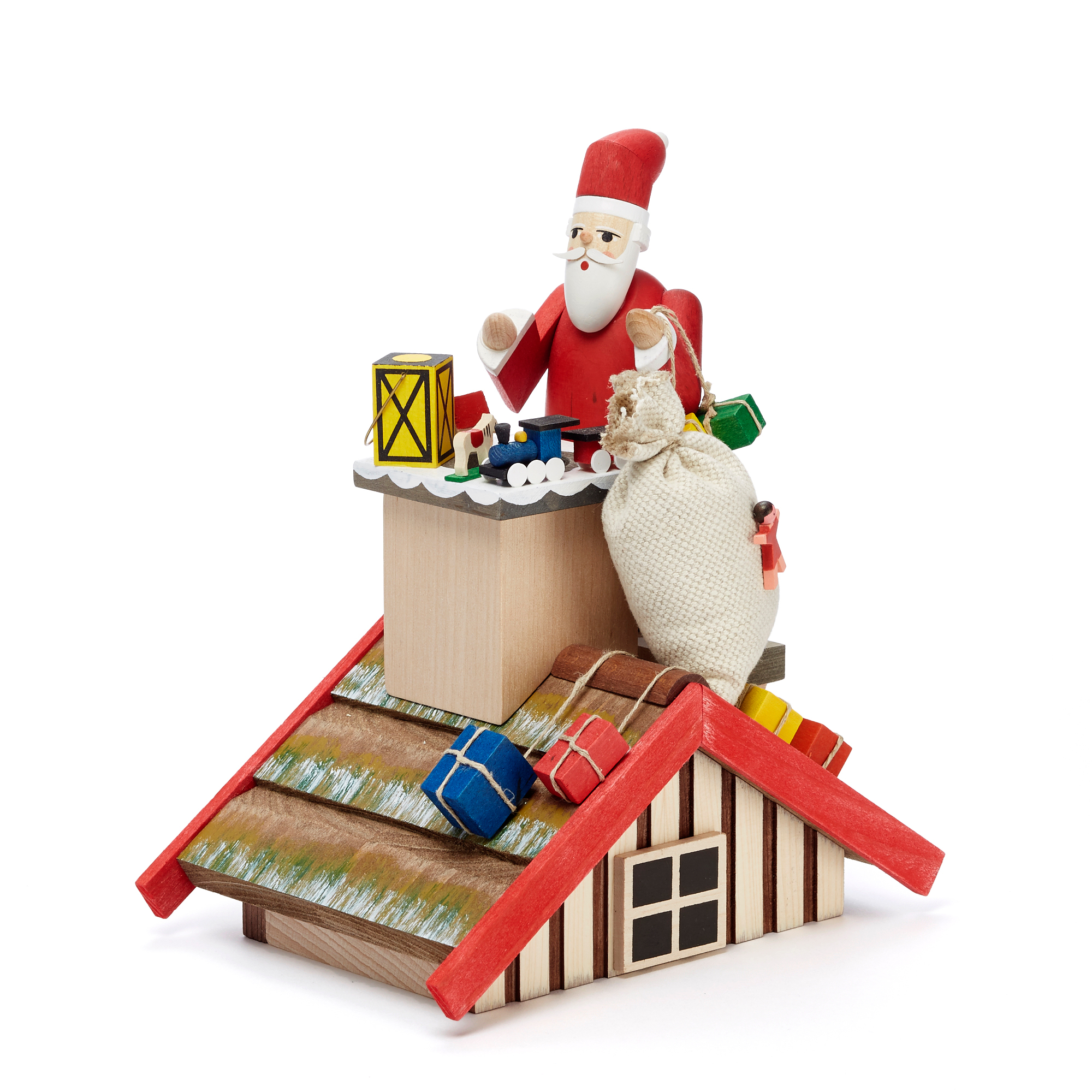 Santa on Rooftop Smoker