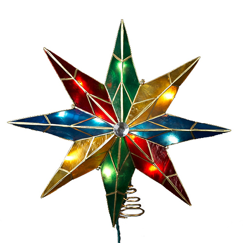 8-Point Rainbow Lit Star Topper