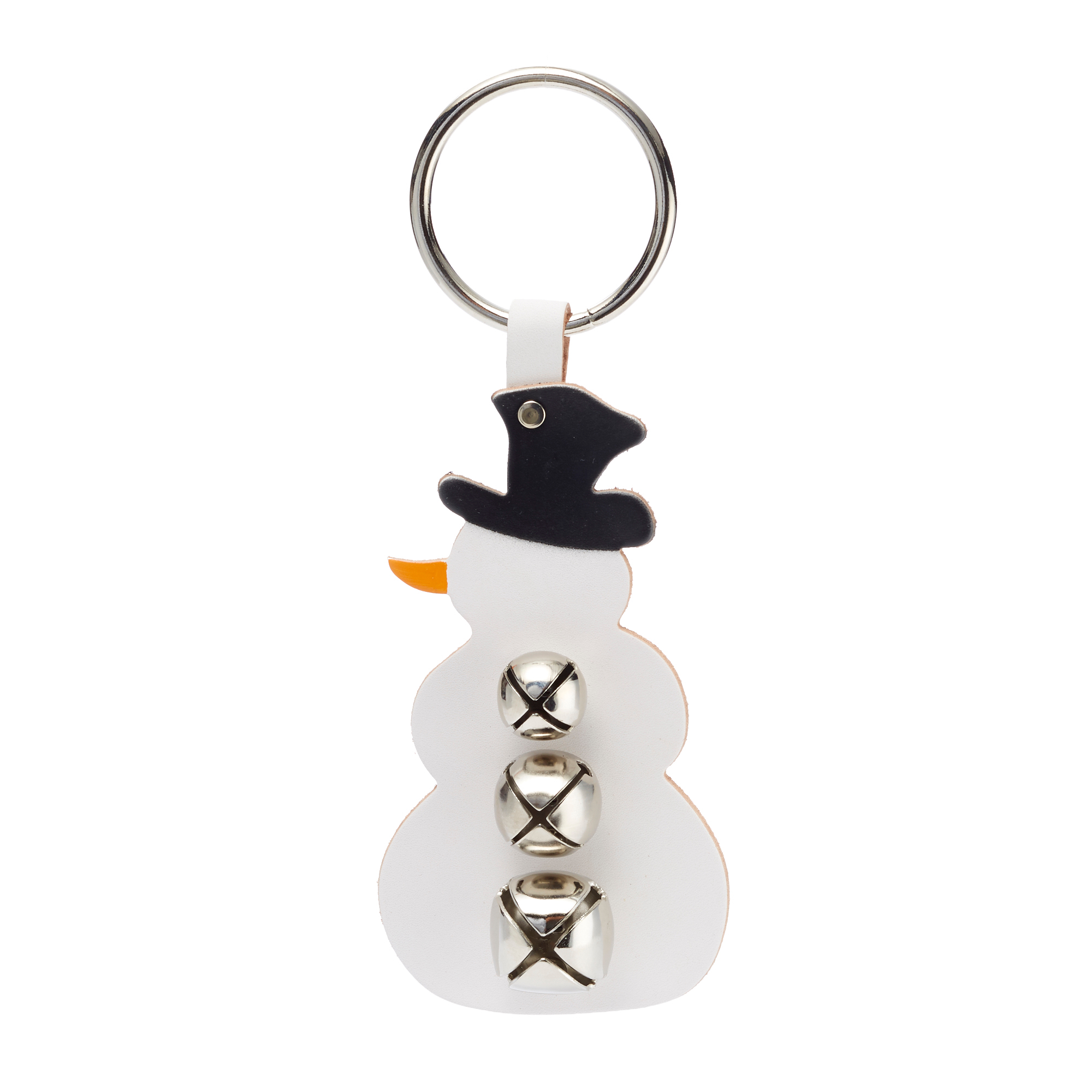 Snowman with Silver Bells Door Hanger
