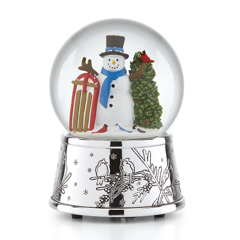 Reed+Barton Snowman with Sled Snowglobe