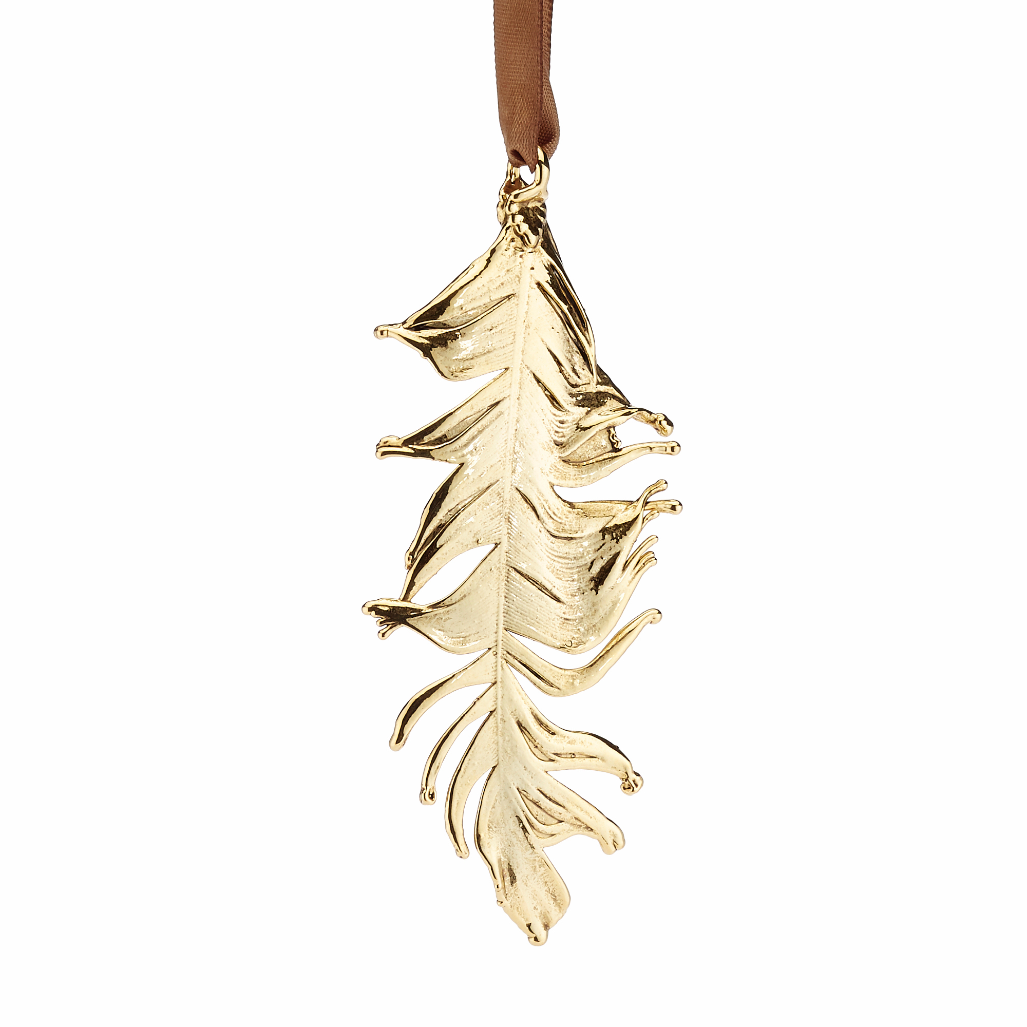 Still Life Gold Feather Ornament