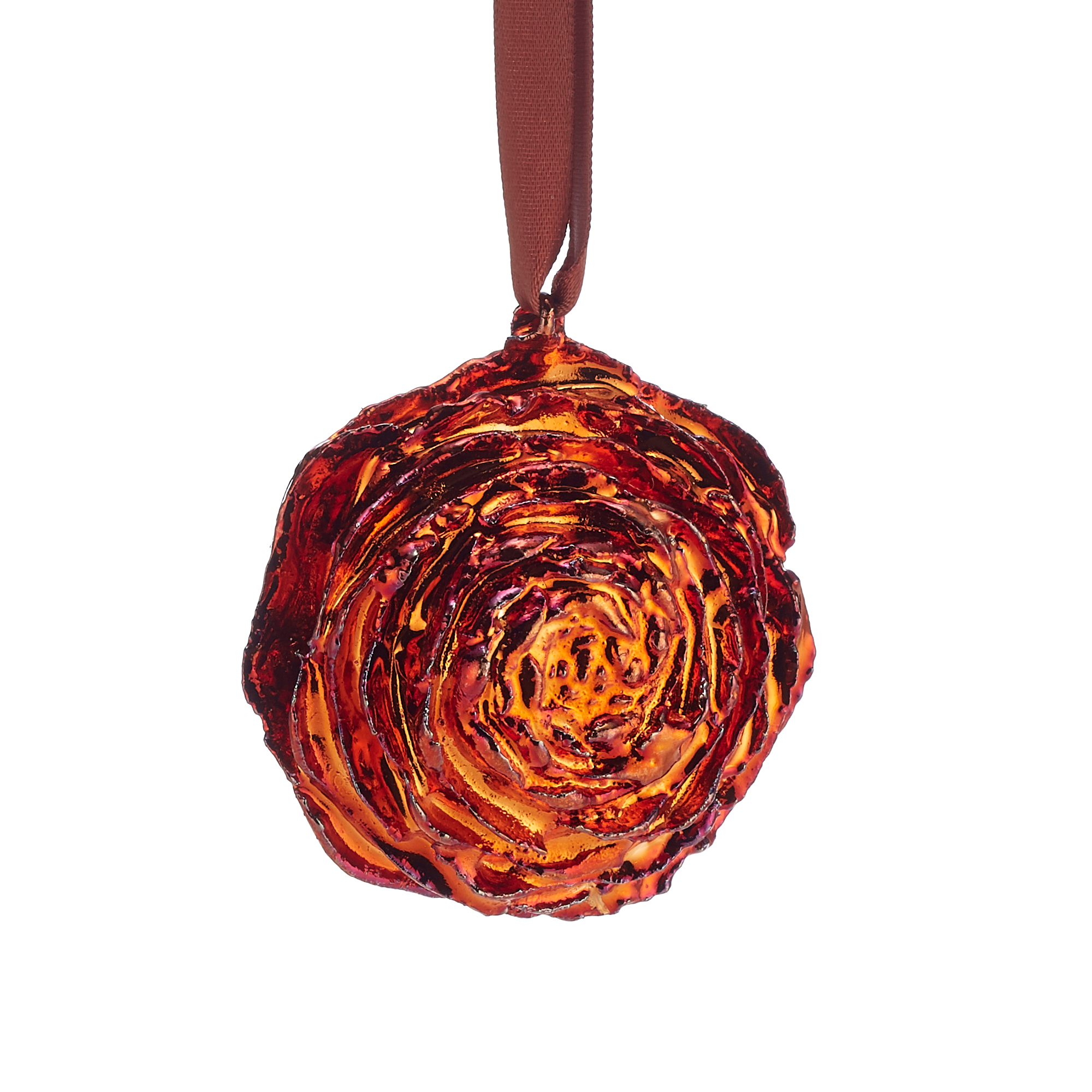 Still Life Cedar Rose Copper Christmas Ornament