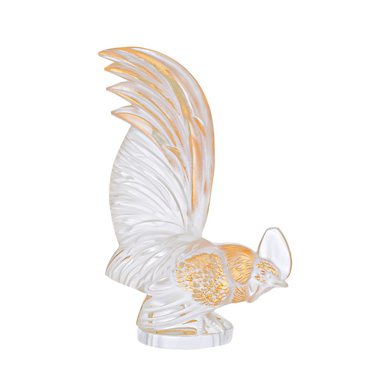 Lalique Gold-Stamped Rooster, Large