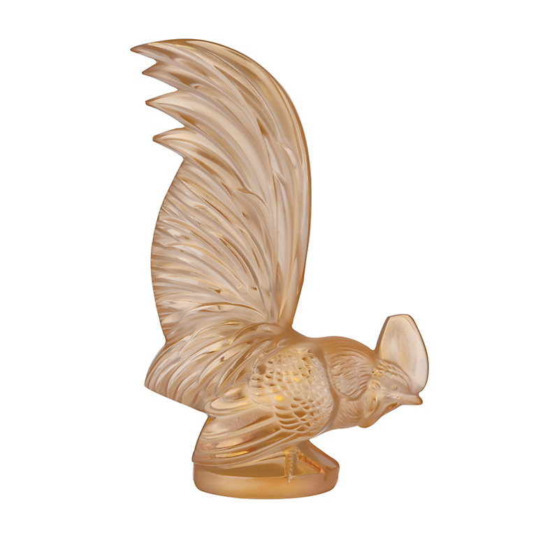 Lalique Gold Luster Rooster, Large