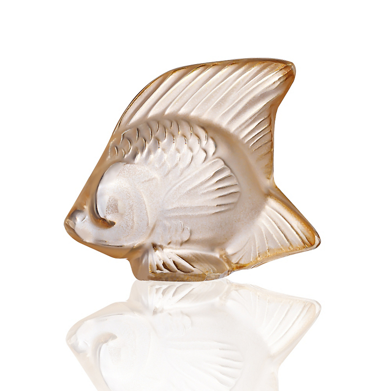 Lalique Fish, Gold Luster
