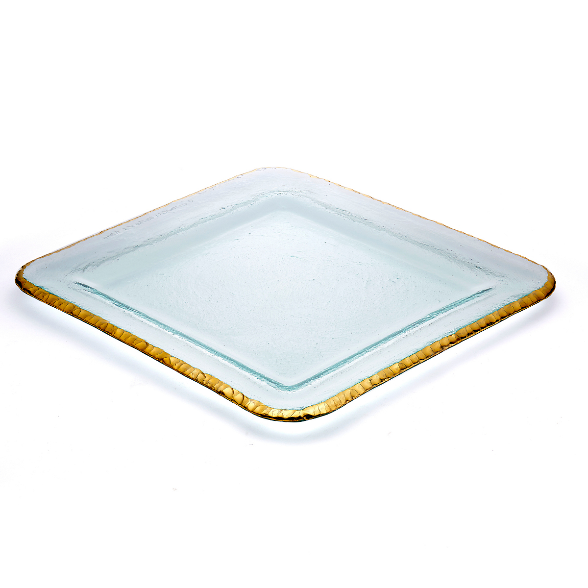 Annieglass Edgey Square Platter, Large Gold