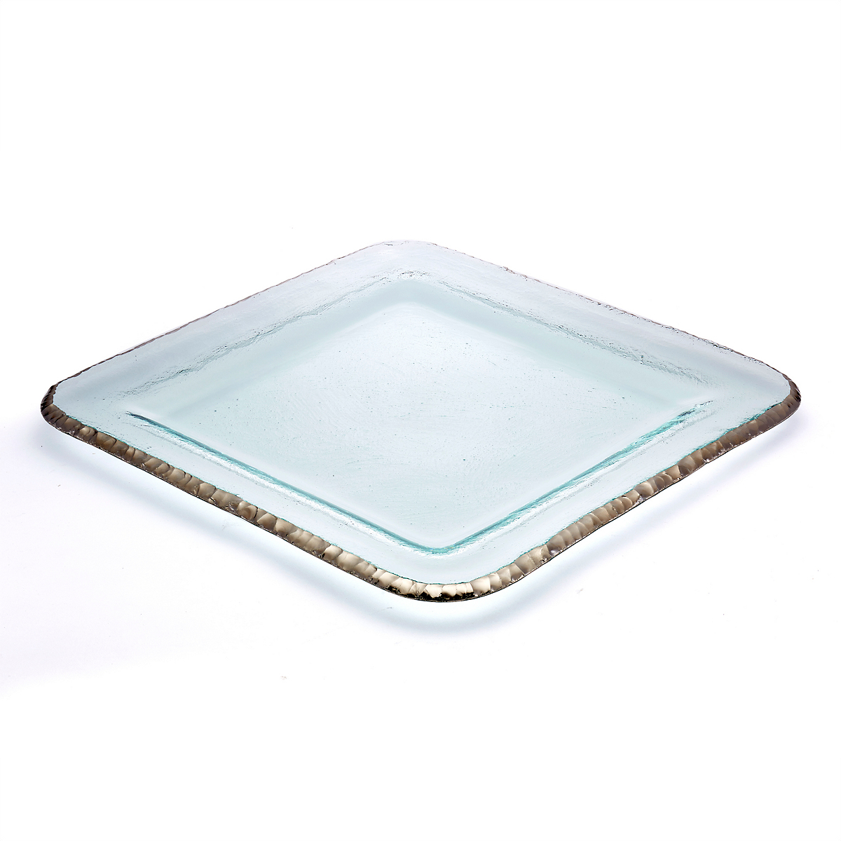 Annieglass Edgey Square Platter, Large Platinum