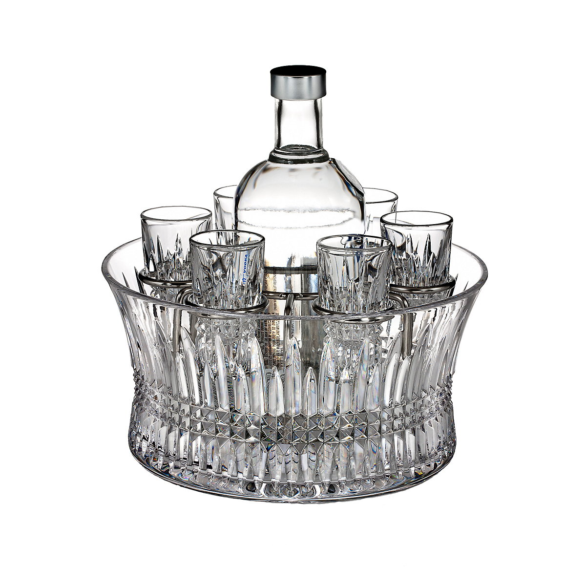 Waterford Lismore Diamond Vodka Chiller Set