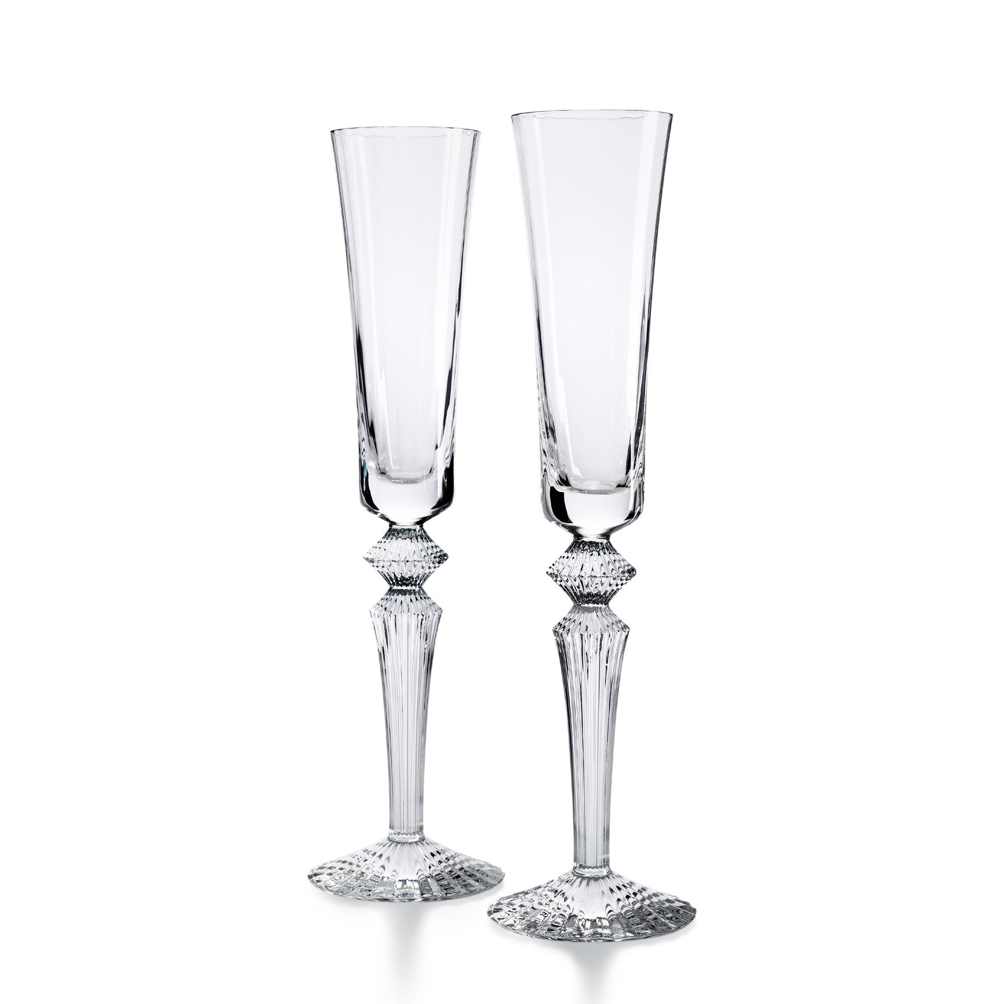 Baccarat Mille Nuits Flutissimo Flutes, Set of 2 Clear