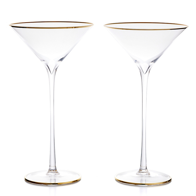 Lsa International Gold Celebrate Martini Glasses, Set of 2