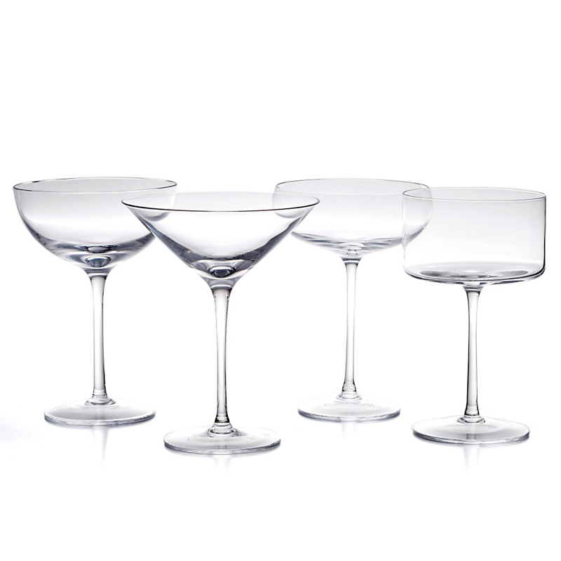 Lsa International Lulu Champagne/Martini Glasses, Set of 4