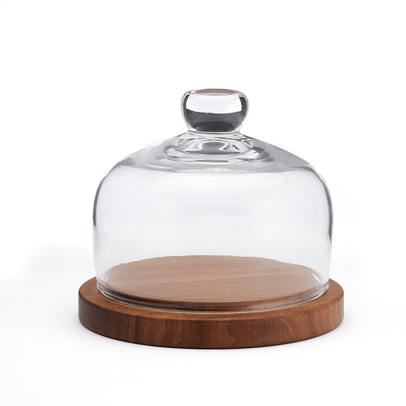 City Dome & Walnut Base, Small