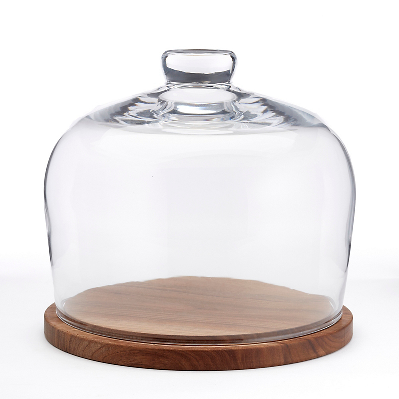 City Dome & Walnut Base, Medium